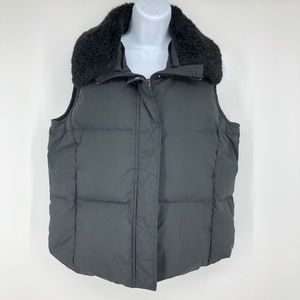 Pendleton Vest Down Quilted Puffer Faux Fur Collar